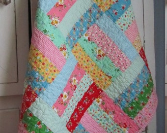 Backyard Roses Baby Girl/Toddler Quilt