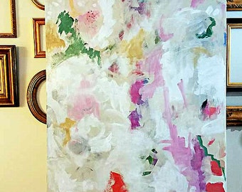 """Large Original 36""""x48"""" Abstract Painting by Mary Kaiser"""