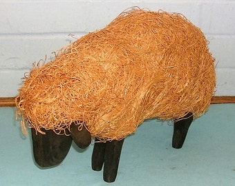 Vintage Hand Carved Lamb Vintage Figurine Primitive Rustic Lamb