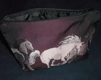 Galloping Horses Cosmetic Bag