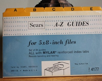 Sears A-Z Guides for 5x8 inch files