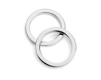 "30pcs - 1"" (25mm) Flat Zinc O-Ring - Nickel - (FOR-108) - Free Shipping"