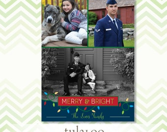 String of Lights - Holiday Photo Card - PRINTABLE