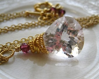Pink Amethyst Minimalist Necklace-Sugar Plum II