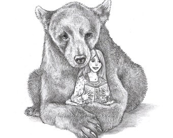 Bear-d Time Story 8x6 Mounted Open Edition Print