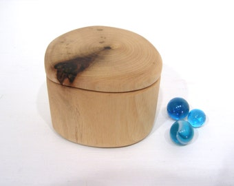 Oregon Myrtlewood Box, tree branch, presentation box, engagement ring box, ring bearer box, earring box, small jewelry box, cuff links box