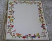 Susan Branch Watercolor Floral Garden Design Vintage 10 Cards & Envelopes Acid Free Paper