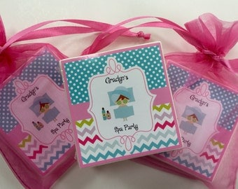 Spa party favors, girls party, spa day soap favors, set of 10