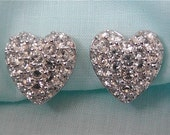 Vintage Swarovski Heart Earrings