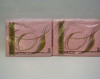 Vintage pink sheets in original packaging