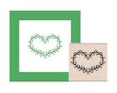 NEW for 2016 Leaves Heart Rubber Stamp