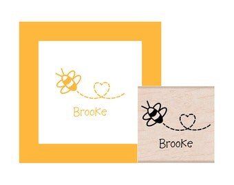 Bee Personalized Rubber Stamp