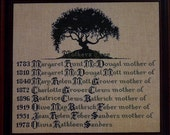 Mother's Tree, by Lavender & Lace, counted cross stitch