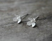 Flower Stud Earrings, Sterling Flower Earrings, Flower Studs, Flower Posts, Wedding, Woodland Earrings, Nature Jewelry, Sterling Flowers