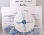 Kumihimo Round Braid Beginners Kit with instructions - DIY Japanese Braiding - includes Kumi disk, bobbins, cotton cord, and counterweight