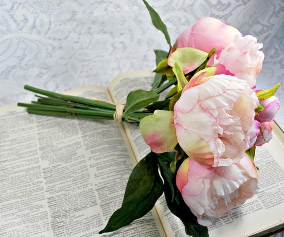 Homemade Wedding Bouquets Silk Flowers : Silk flowers artificial diy wedding bouquet