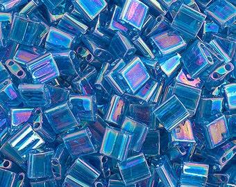 10 Grams Japanese Miyuki Tila Beads-Sapphire Transparent AB (TL291)