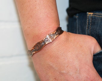 "1/4"" recycled copper cuff, size large, cuff, copper jewelry, recycled, hammered copper, copper bracelet, stacylynnc, handmade"