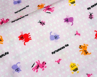 Japanese fabric Animal print Dog cat butterfly   (n321)