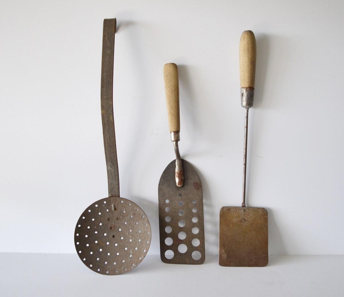 Antique Kitchen Utensils Spatula Caming Utensils RV Kitchen