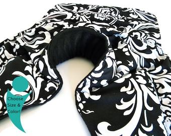 XL Large Neck Shoulder Back - Microwave Heat Pack, Heating Pad (NSB) - black white