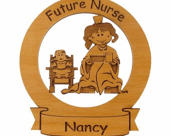 Future Nurse Ornament Personalized with Your Child's Name - Free Shipping