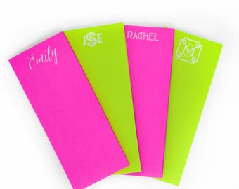 Personalized Neon Skinny  Note Pad