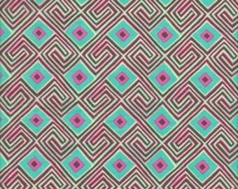 SALE - Rowan Fabrics Amy Butler Glow Maze VOILE in Seaglass - Half Yard