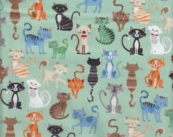 Makower UK Crafty Cats Cat Collage - Half Yard