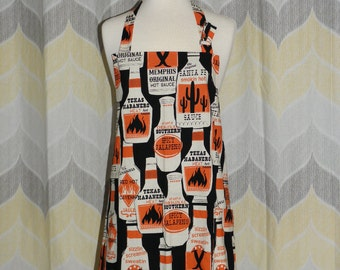 Smokin Hot Sauce Mens Kitchen Apron - Priority OR Free Shipping -  Handmade Apron, Sewn and Ready to Ship!