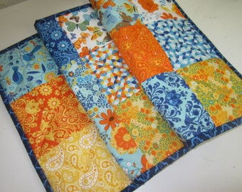 Handmade Quilted Tablerunner/Bright Floral/Moda Fabrics