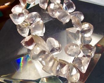 Large Rose Quartz  Briolette Beads, All Fancy Shapes, Focal Drops, Natural Gemstones 300 CtS