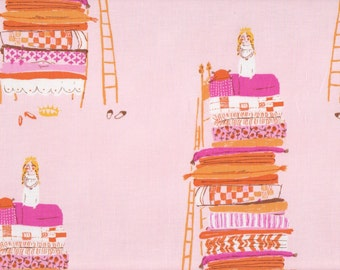 Far Far Away by Heather Ross, Princess and the Pea HR9658 Pink- half yard