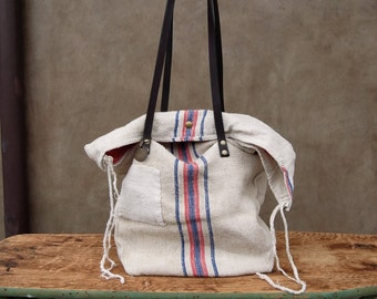 French grain sack tote 2