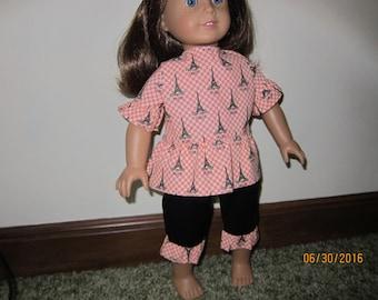 Capri Set For 18 inch American Girl Size Doll
