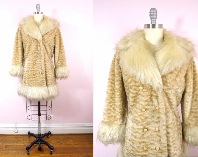 1970s Vintage Faux Fur Vintage Coat  L