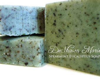 SOAP- Spearmint Eucalyptus Soap - Cold Process Soap - Organic Soap- Vegan Soap - Natural Soap - Soap Gift