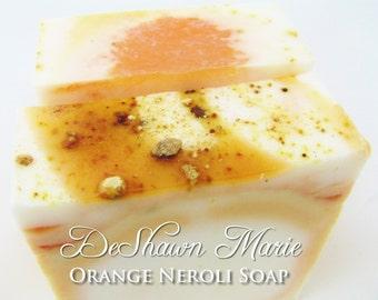 SOAP - Orange Neroli Handmade Soap, Orange Soap, Neroli Soap, Vegan Soap, Soap Gift
