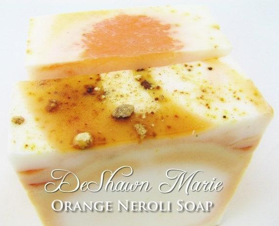 SALE SOAP - Orange Neroli Handmade Soap, Orange Soap, Neroli Soap, Vegan Soap, Soap Gift, Christmas Gift, Mother's Day Gift, Birthday Gift