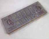 Vintage Print Block for Reed's Asprin from the 1940's or 1950's