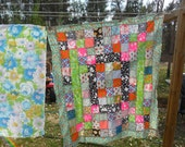 """Vintage Handmade Started Quilt to finish measuring 54"""" x 47"""""""