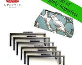 SAVE 35% - BEST of Slightly Imperfect Clutch Purse Frames - Set of 10 Malibu Black Nickel