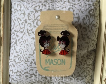 Lydia Deetz Stud Earrings