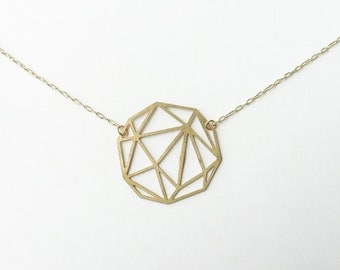 Faceted Geometric Sphere Necklace | ATL-N-105