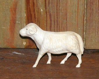 Vintage Irwin Celluloid Horned Sheep or Ram