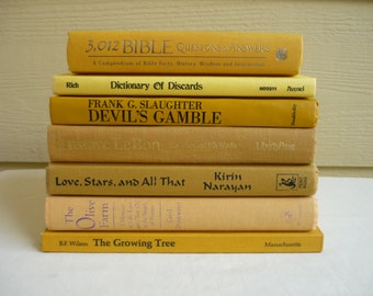 RESERVED FOR 512taj239   Vintage yellow book