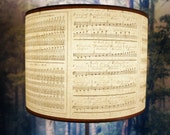 drum lamp shade, Italian parchment music