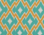 Aztec Ikat in Teal - Joel Dewberry - 1 YARD Fabric