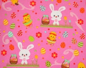 Easter Bunny knit fabric 1 yard cotton spandex Sale