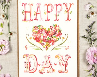Happy Heart Day - Greeting Card